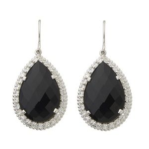 Jilco Jewelry Faceted Black Onyx Earrings NWT